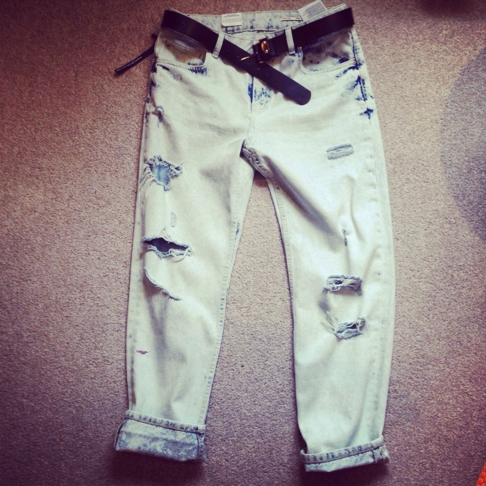 Zara denim torn jeans sale