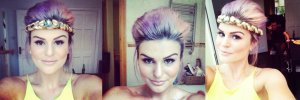 DIY Purple Hair with Eat Sleep Chic Blog