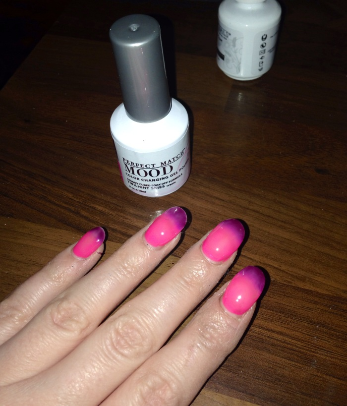 Perfect Match color changing Mood Gel Polish ASU