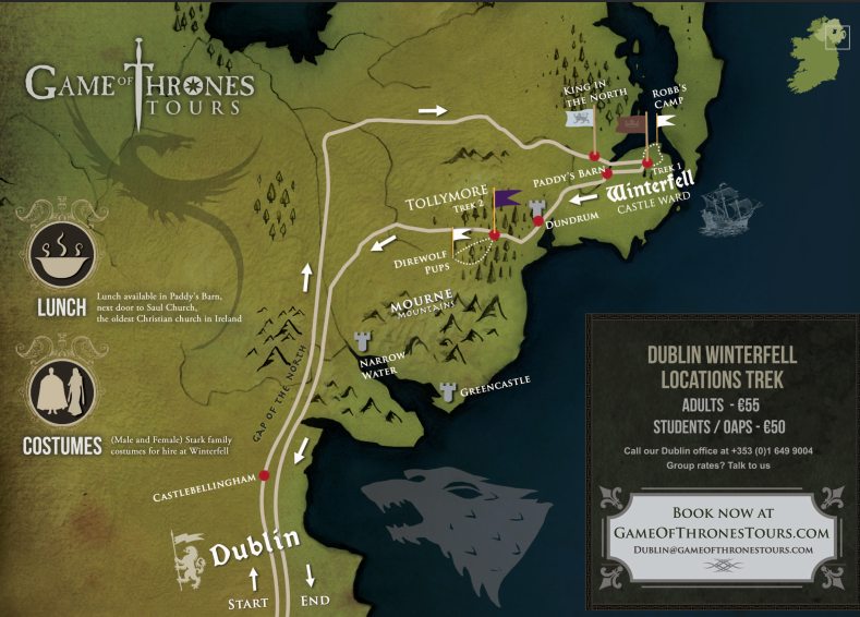 Book the Game of Thrones Tour From Dublin   Wild Rover Tours