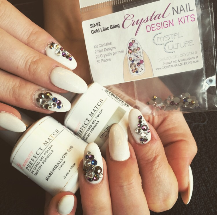 Acrylic nails with Crystal Culture bling – Reba Reborn Hair and ...